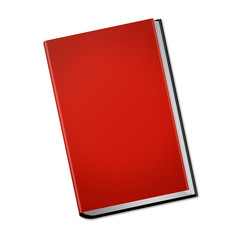 red hardcover book