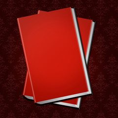 red cover book book