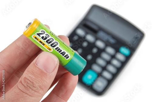Battery and calculator