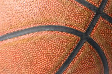 closeup of a orange basketball ball