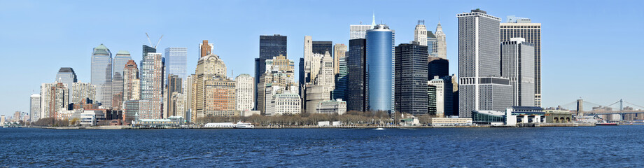 Panorama view of Lower Manhattan skyline (New York City)