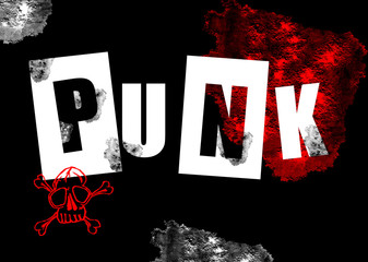 Punk grunge background