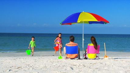 Healthy Family Enjoyment Outdoors