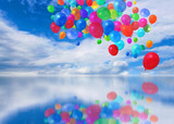 Colorful balloons cloudscape