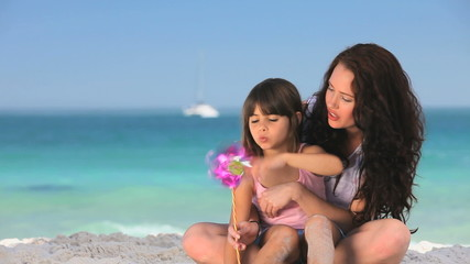 Mother enjoying time with her daughter