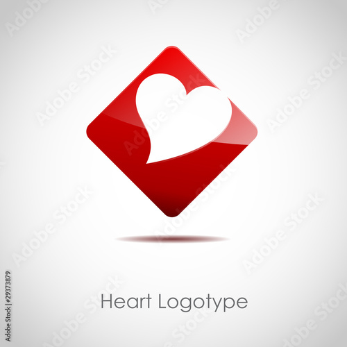 Logo red love hearth # Vector