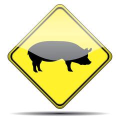 Señal cerdo