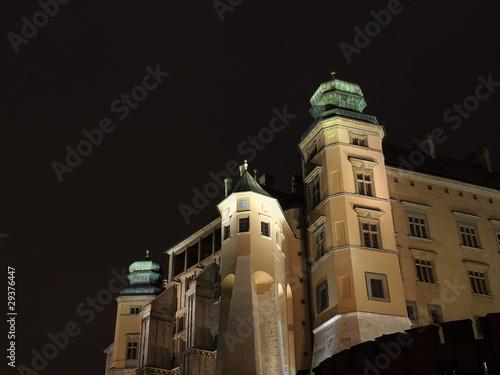 poster of Wawel Hill by night - Krakow .