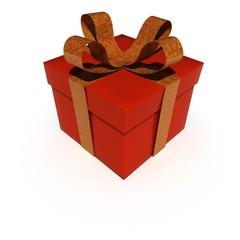Rotes Paket mit Schlaufe