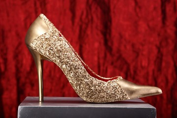 Gold Schuh  Rot 04