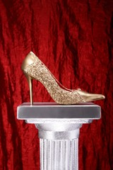 Gold Schuh  Rot 06