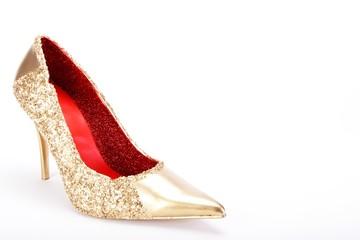 Gold Schuh  Weiss 11