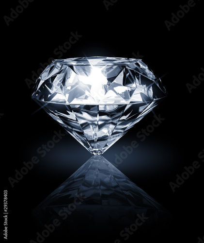 diamond on dark background