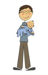papa et bébé garçon