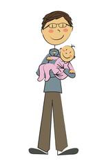 père célibataire bébé