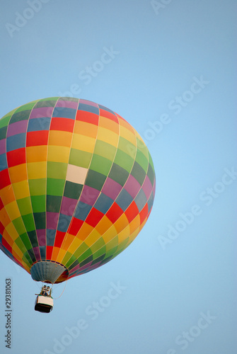 Colorful balloon on the sky.
