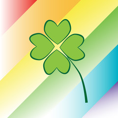 Four Leaf Clover Rainbow