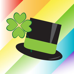 St Patricks Day Rainbow Hat