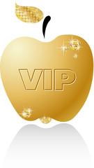 Gold brilliant vector apple