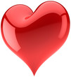 Heart shape 3d. Love abstract. Valentines day symbol