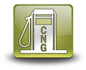 "Yellow 3D Effect Icon ""Fuel Dispenser - CNG"""