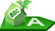 Maison verte BBC de classe A (détouré)