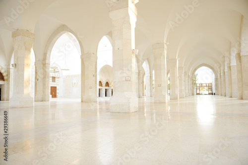 Madina mosque empty, conceptual indoor of oriental building