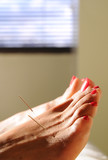 acupuncture at the foot poster