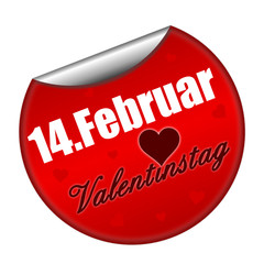 Sticker Valentinstag