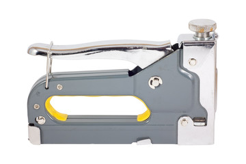 Staple gun with yellow grip
