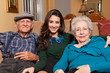Granddaughter and Grandparents Home Lifestyle