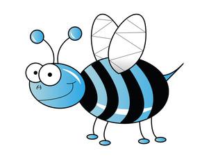 Blue bee vector