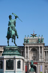 Heldenplatz at the Hofburg palace in Vienna, Austria