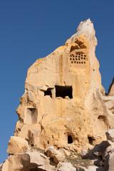 Ruinen von Çavuşin (Cavusin) in Kappadokien, Türkei