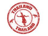 Fototapety Thailand stamp