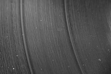 Closeup of LP Vinyl Record