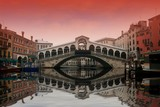 Sunset in Rialto bridge