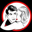 Portrait couple amoureux joue contre joue