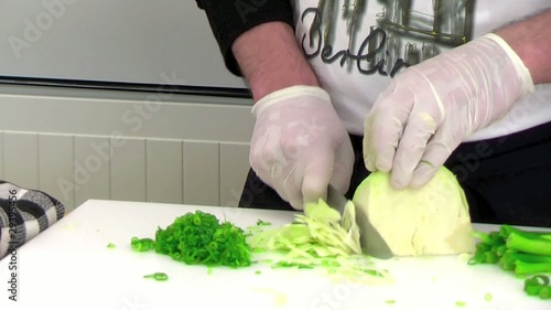 fresh vegetables cutting