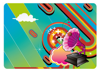 composicion musical abstracta en vector