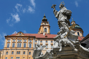 Stift Melk, famous Benedictine monastery in baroque style