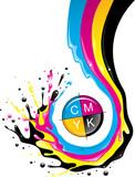CMYK splash