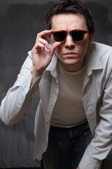 Man in the sunglasses.