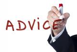 focus sur le terme advice conseils poster