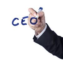 CEO PDG mot écrit au marker