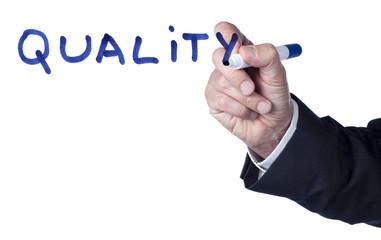 emphase sur le mot quality qualité
