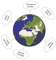Sprechblasen, Erde
