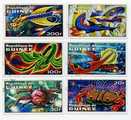 A stamp printed in Republic of Guinea  1972