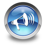 "Glossy Pictogram ""Megaphone / Announcement Symbol"""