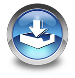 """Glossy Pictogram """"Download"""""""